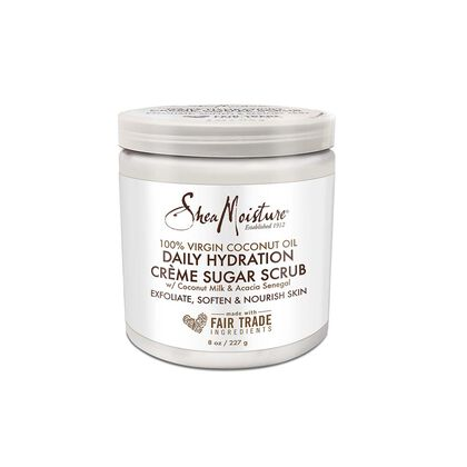 100% Virgin Coconut Oil Coconut Daily Hydration Creme Sugar Scrub