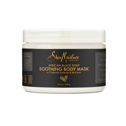 African Black Soap Soothing Body Mask