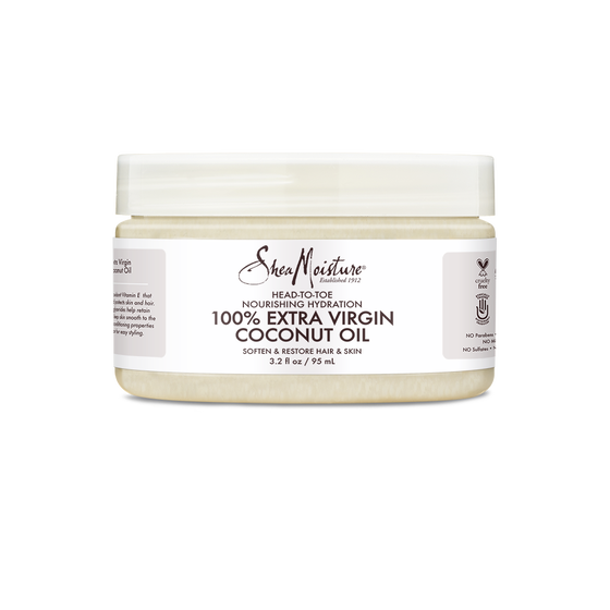100% Extra Virgin Coconut Oil Head-To-Toe Nourishing Hydration Trial & Travel Size