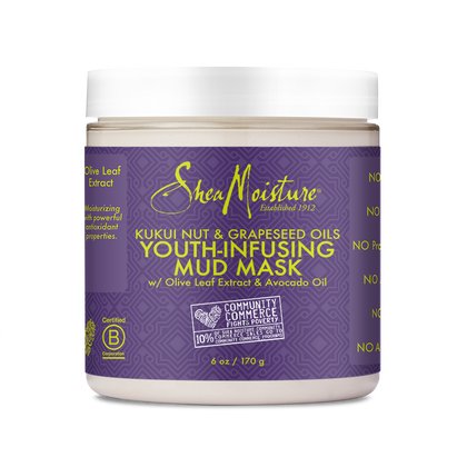 Kukui Nut & Grapeseed Oils Youth-Infusing Mud Mask