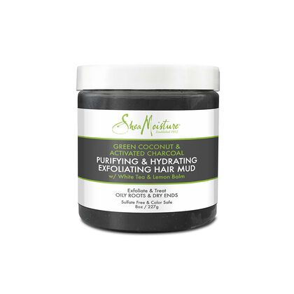 Green Coconut & Activated Charcoal Purifying & Hydrating Exfoliating Hair Mud