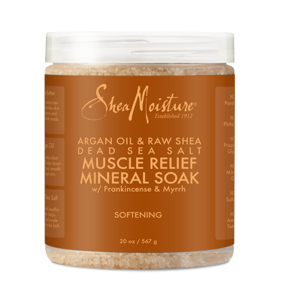 Argan Oil & Raw Shea Dead Sea Salt Muscle Relief Mineral Soak