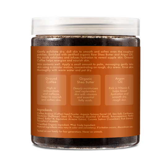 Argan Oil Ground Coffee Scrub