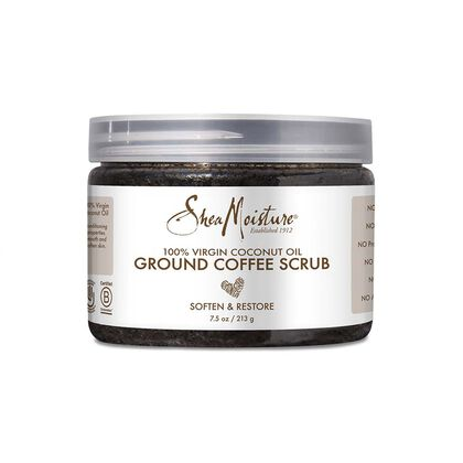 100% Virgin Coconut Oil Ground Coffee Scrub w/ coconut Milk & Acacia Senegal Soften & Restore