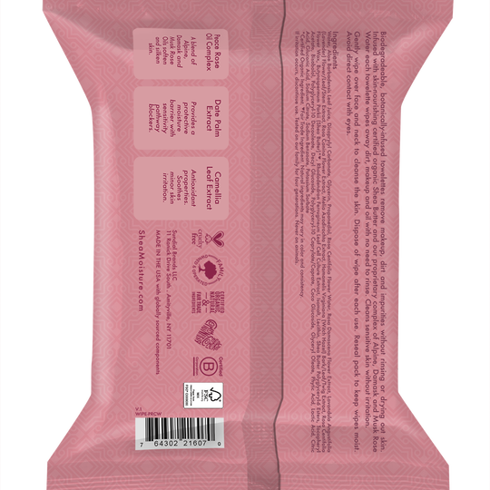 Peace Rose Oil Complex Sensitive Skin Facial Wipes