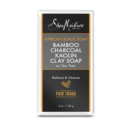African Black Soap Bamboo Charcoal Kaolin Clay Soap