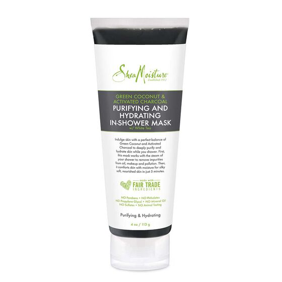 Green Coconut & Activated Charcoal Purifying and Hydrating In-Shower Mask