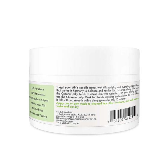 Green Coconut & Activated Charcoal Purifying & Hydrating Mask Duo