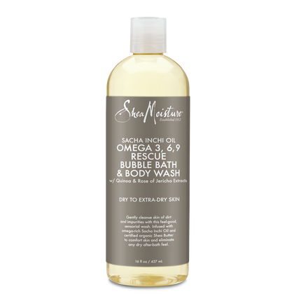 Sacha Inchi Oil Omega-3-6-9 Rescue Bubble Bath & Body Wash