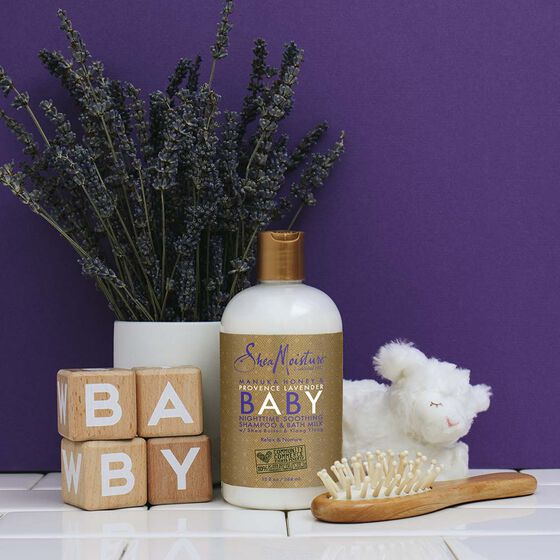 Manuka Honey & Provence Lavender Baby Nighttime Soothing Shampoo & Bath Milk