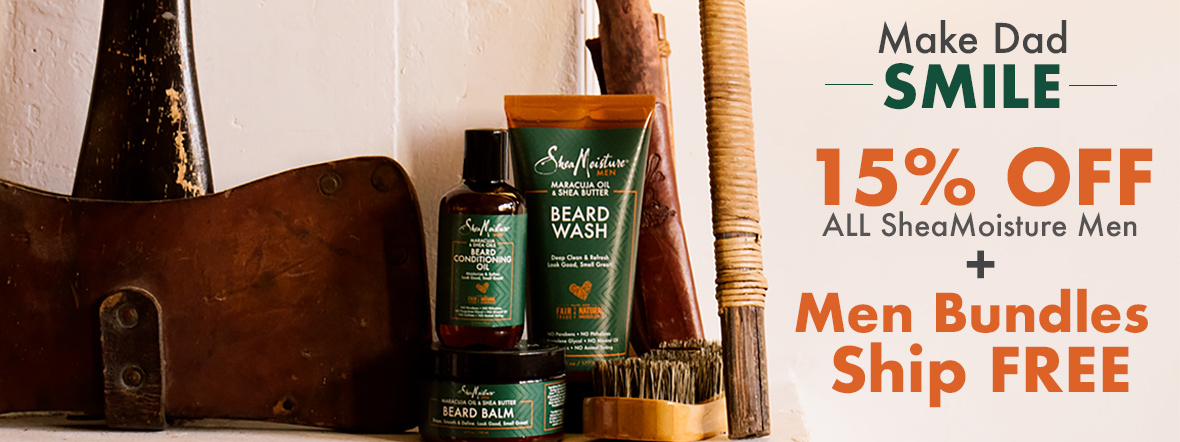Make Dad Smile with 15% Off SheaMoisture Men
